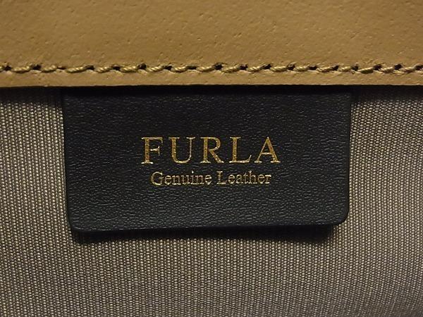 1円 ■極美品■ FURLA フルラ サリー レザー ゴールド金具 ハンドバッグ トートバッグ 手提げかばん レディース ホワイト系 Q1329カN_画像10