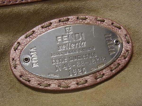 1円 ■美品■ FENDI フェンディ セレリア レザー シルバー金具 ハンドバッグ トートバッグ 手提げかばん レディース ピンク系 Q1640アN_画像10