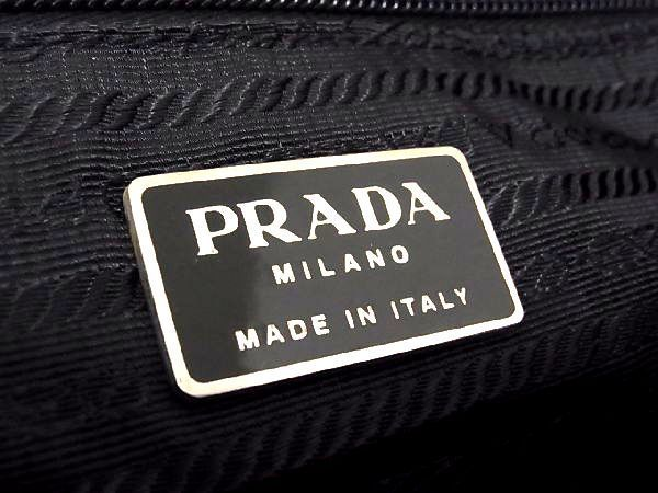 1円 PRADA プラダ テスートナイロン シルバー金具 トートバッグ ハンドバッグ 手提げかばん ボルドー系 Y3980BR_画像10