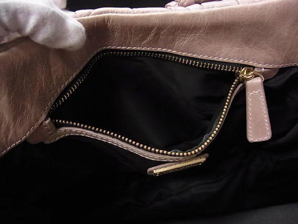 1円 ■美品■miumiu ミュウミュウ マテラッセ レザー ゴールド金具 ハンドバッグ 手提げ 手持ちかばん レディース ベージュ系 M7217アM_画像9