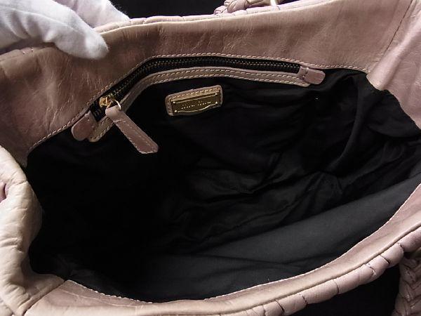 1円 ■美品■miumiu ミュウミュウ マテラッセ レザー ゴールド金具 ハンドバッグ 手提げ 手持ちかばん レディース ベージュ系 M7217アM_画像8