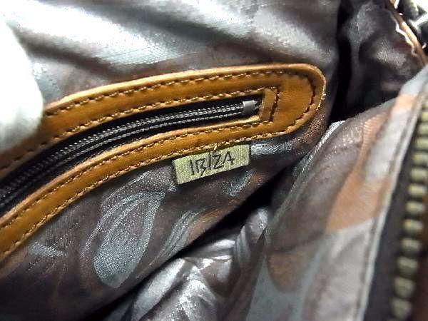 1円 ■美品■ IBIZA イビザ レザー パッチワーク ハンドバッグ トートバッグ 手提げ 手持ちかばん レディース ブラウン系 Q3175アM_画像10
