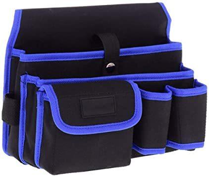 工具袋-4-BL ZMAYA STAR 腰袋片側 電工用 工具差し 工具袋 ウエストバッグ ツールバッグ ツール ポーチ ZMG_画像1