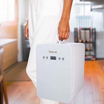 ホワイト AstroAI 冷蔵庫 小型 ミニ冷蔵庫 小型冷蔵庫 冷温庫 6L 2℃~60℃温度調整可能 化粧品 ポータブル 家庭_画像7