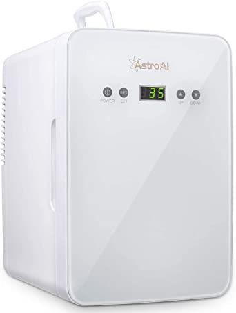 ホワイト AstroAI 冷蔵庫 小型 ミニ冷蔵庫 小型冷蔵庫 冷温庫 6L 2℃~60℃温度調整可能 化粧品 ポータブル 家庭_画像1