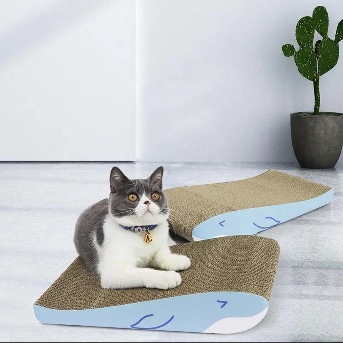 動画versionにてお届け 猫爪とぎ クジラ二兄弟 2枚目1組4面使用可能