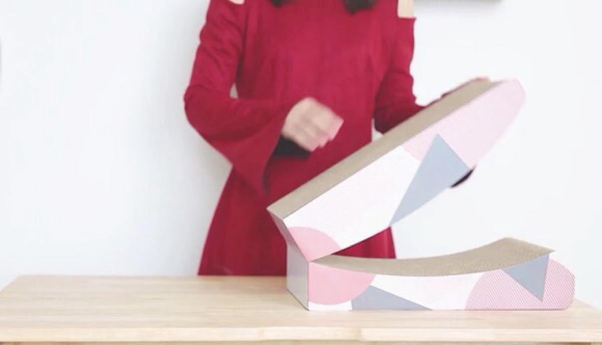 動画versionにてお届け 猫爪とぎ折り畳めちゃうversion