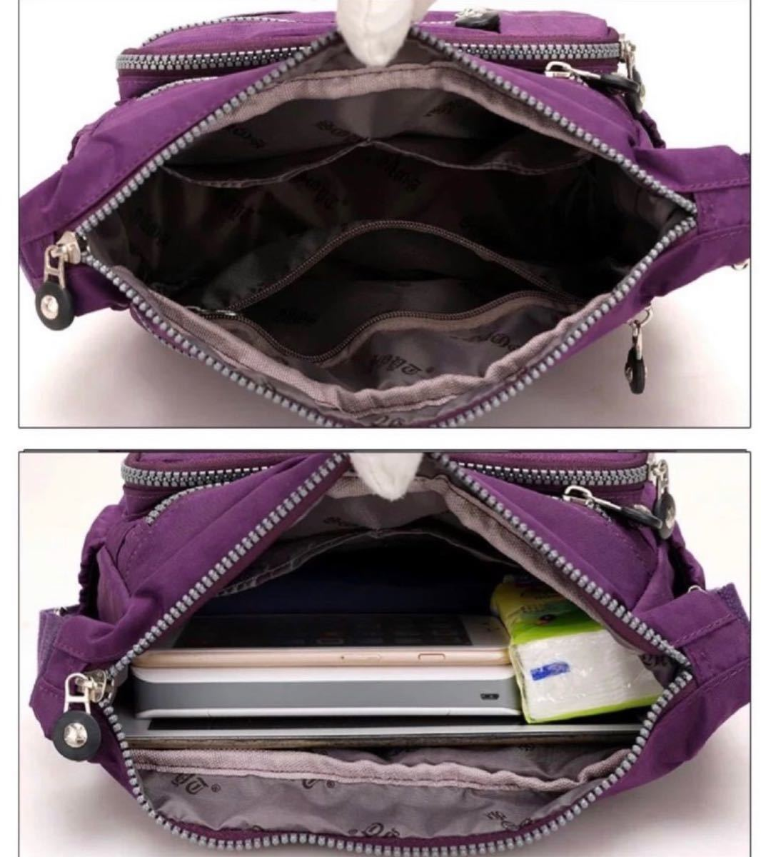 ショルダーバッグ 斜めがけ 軽量 レディースバッグ ボディーバッグ グレー iPad 斜め掛けバッグ