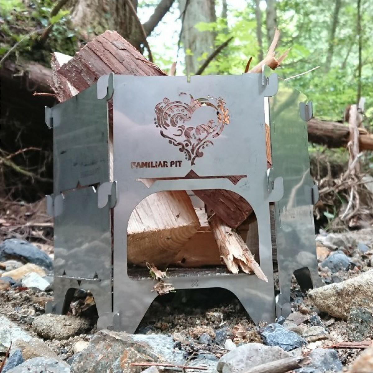 焚き火台 焚火台 コンロ インテリア ハート