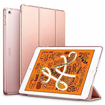 ローズゴール ESR iPad Mini 5 2019 ケース 軽量 薄型 PU レザー スマート カバー 耐衝撃 傷防止 クリ_画像1