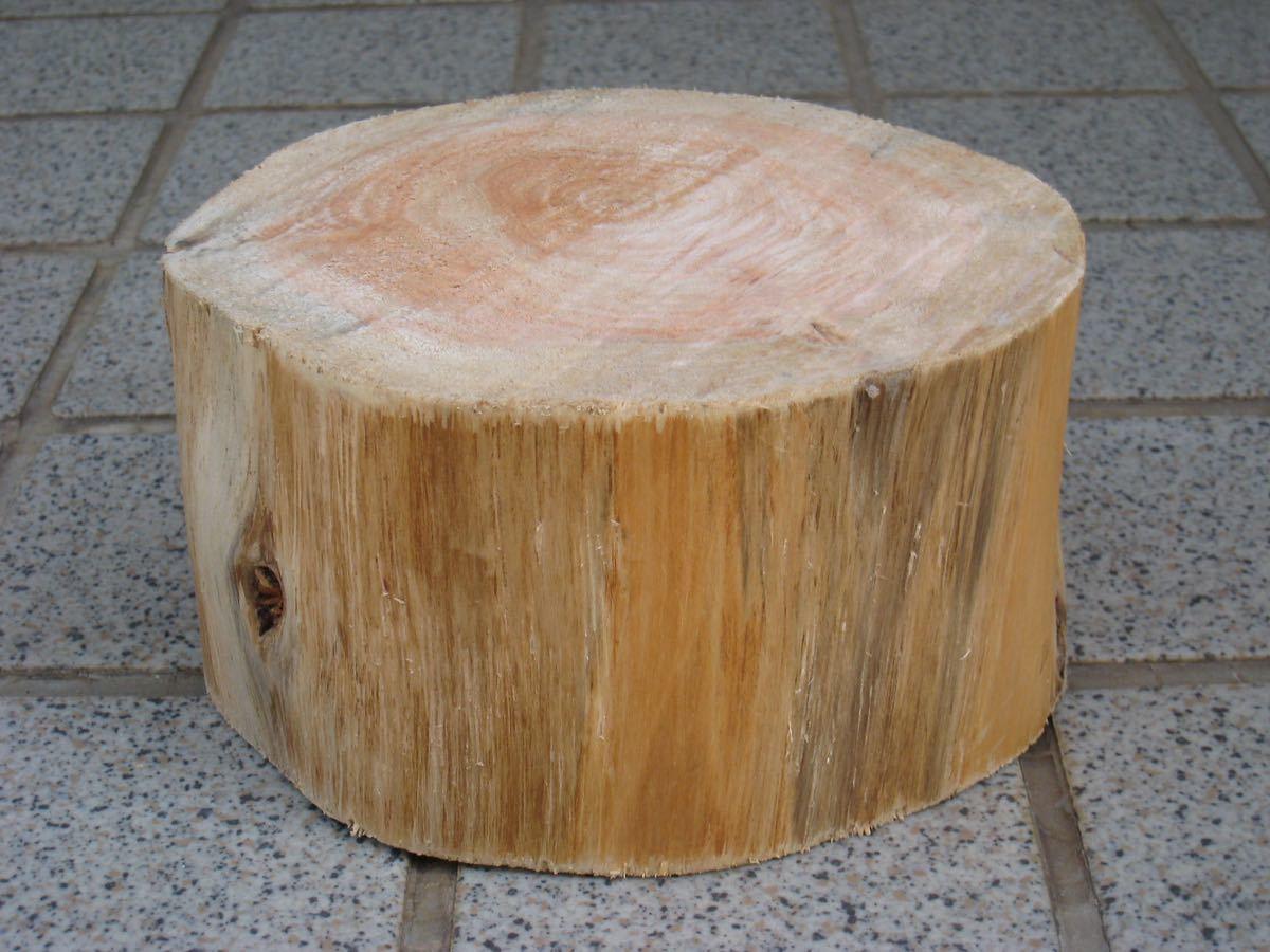 薪割り台 飾り台ひのき14×8_画像1