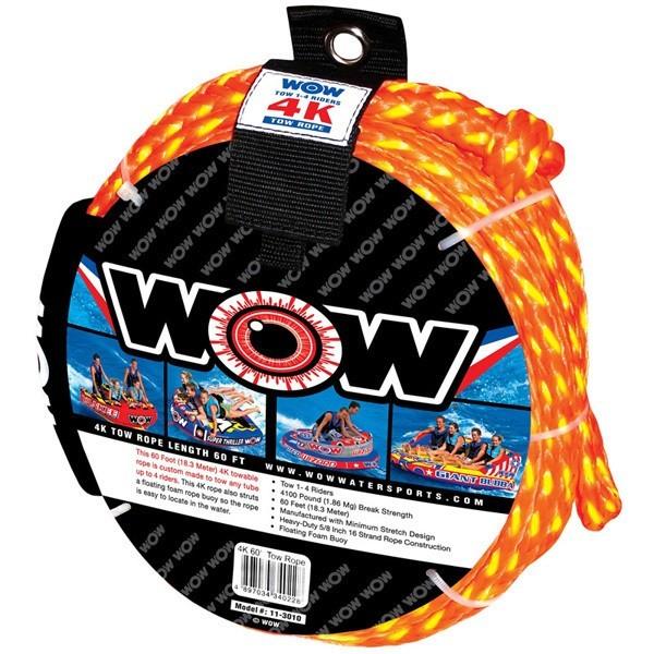 送料無料 WAO トーイングロープ 3~4人乗り用 トーイングチューブ マリンスポーツ ウェイク ボート ジェット バナナボート_画像1