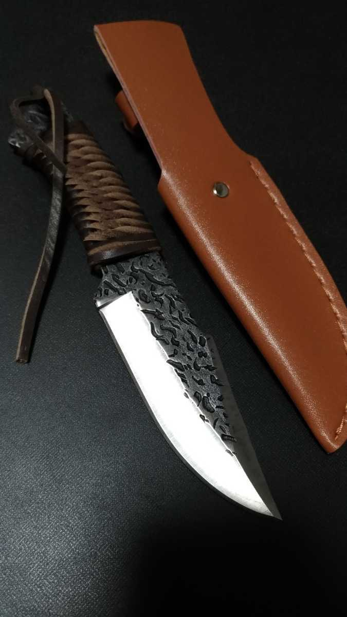 フルタングナイフ 和風 短刀 包丁 フィッシング テント タープ 焚き火 薪 料理 狩猟 無骨