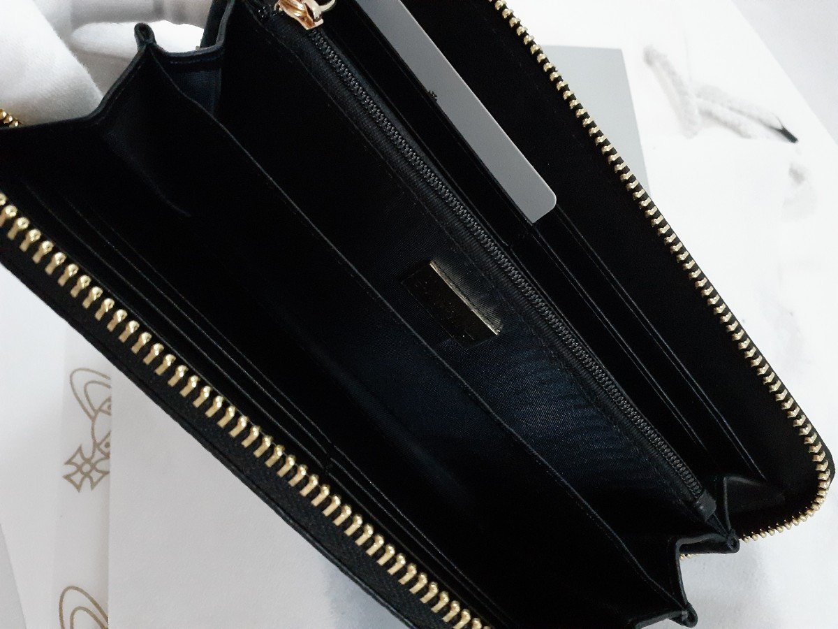 ヴィヴィアンウエストウッド 長財布 Vivienne Westwood 型押し レザー 男女兼用 新品未使用