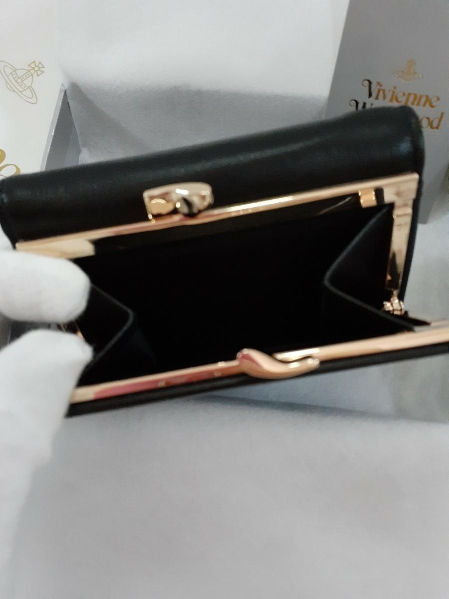 ヴィヴィアンウエストウッド ガマ口 Vivienne Westwood  エンボス 財布 レザー 黒 レディース メンズ