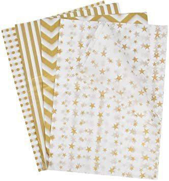新品Idealeben ラッピングペーパー 35 * 50 cm 薄葉紙 ラッピング 包装紙 梱包 4種類 20枚入DLF8_画像1