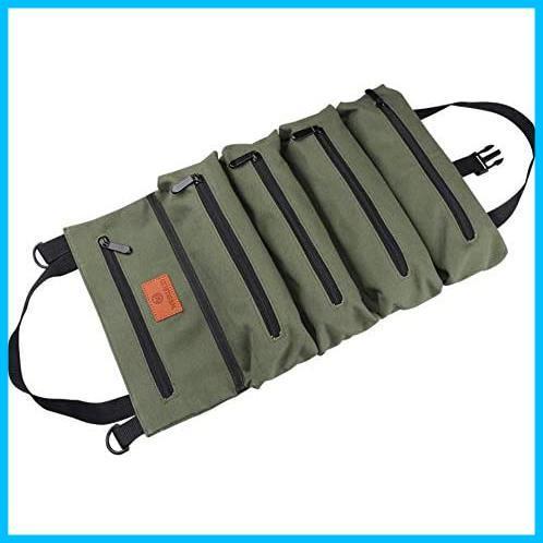 【最安】 5つポケット 工具ケース 工具差し入れ 工具袋 多目的ツールロール T1867 ロール レンチロールポーチ ツールケース ツールバッグ_画像1