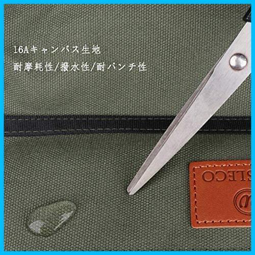 【最安】 5つポケット 工具ケース 工具差し入れ 工具袋 多目的ツールロール T1867 ロール レンチロールポーチ ツールケース ツールバッグ_画像5