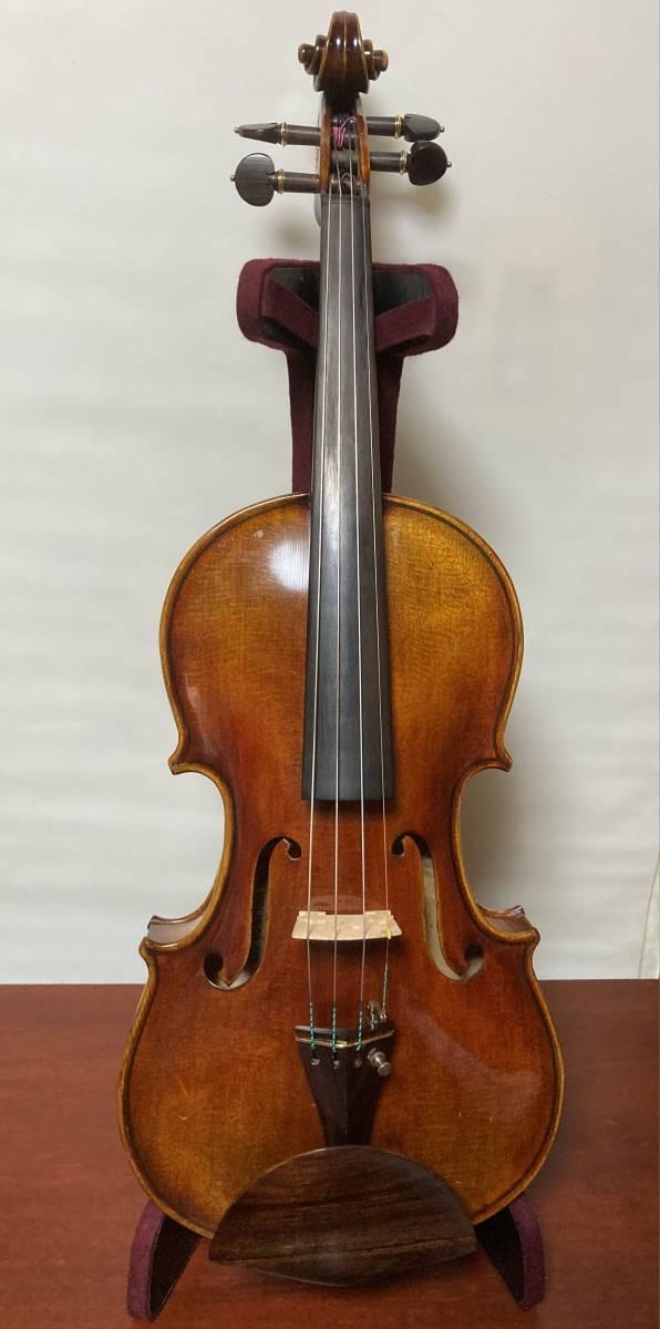 スズキ 鈴木 SUZUKI 特3 1957年4/4ヴァイオリン 鈴木梅雄氏サイン ネック上げ他、渾身のメンテ とても美しい楽器 日本の楽器産業遺産