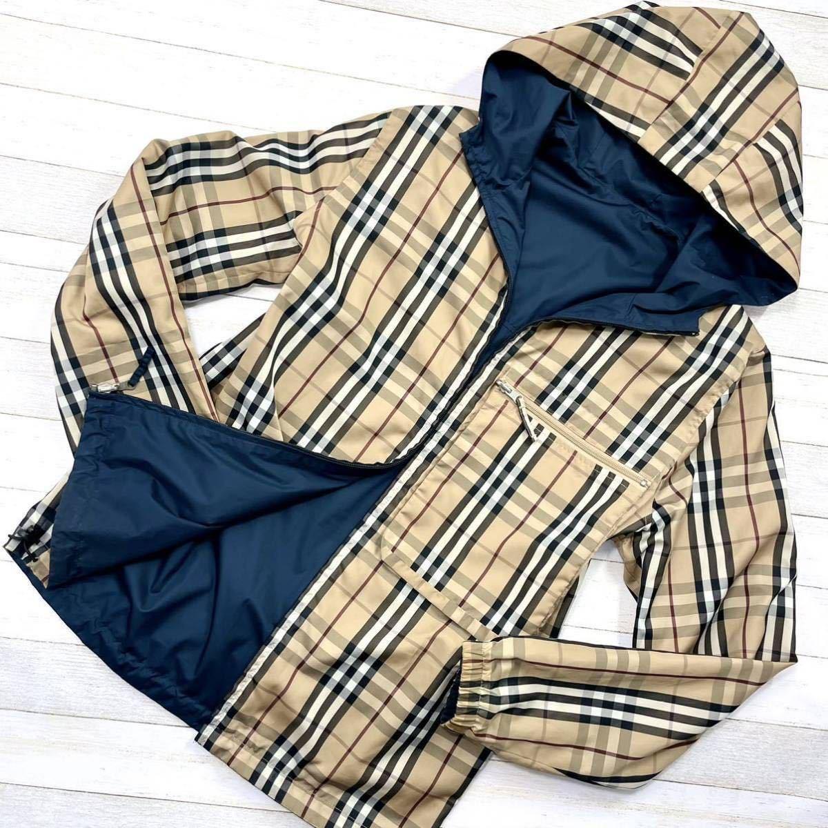 美品 バーバリーロンドン リバーシブル ウィンドブレーカー ジャケット ブルゾン コート