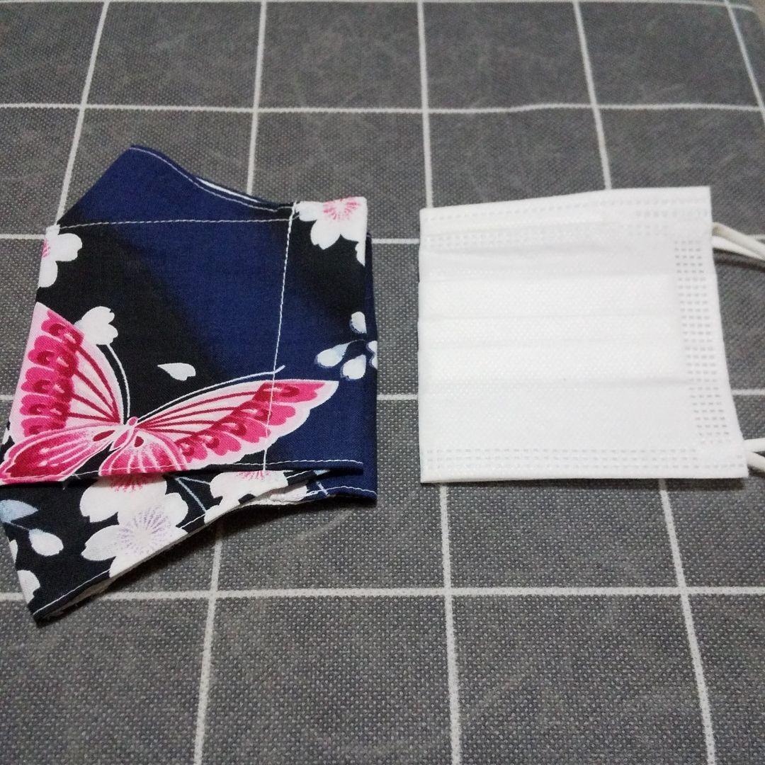 ハンドメイド 立体インナー 大臣風 船形 ボックス 大人用サイズ 桜と蝶々