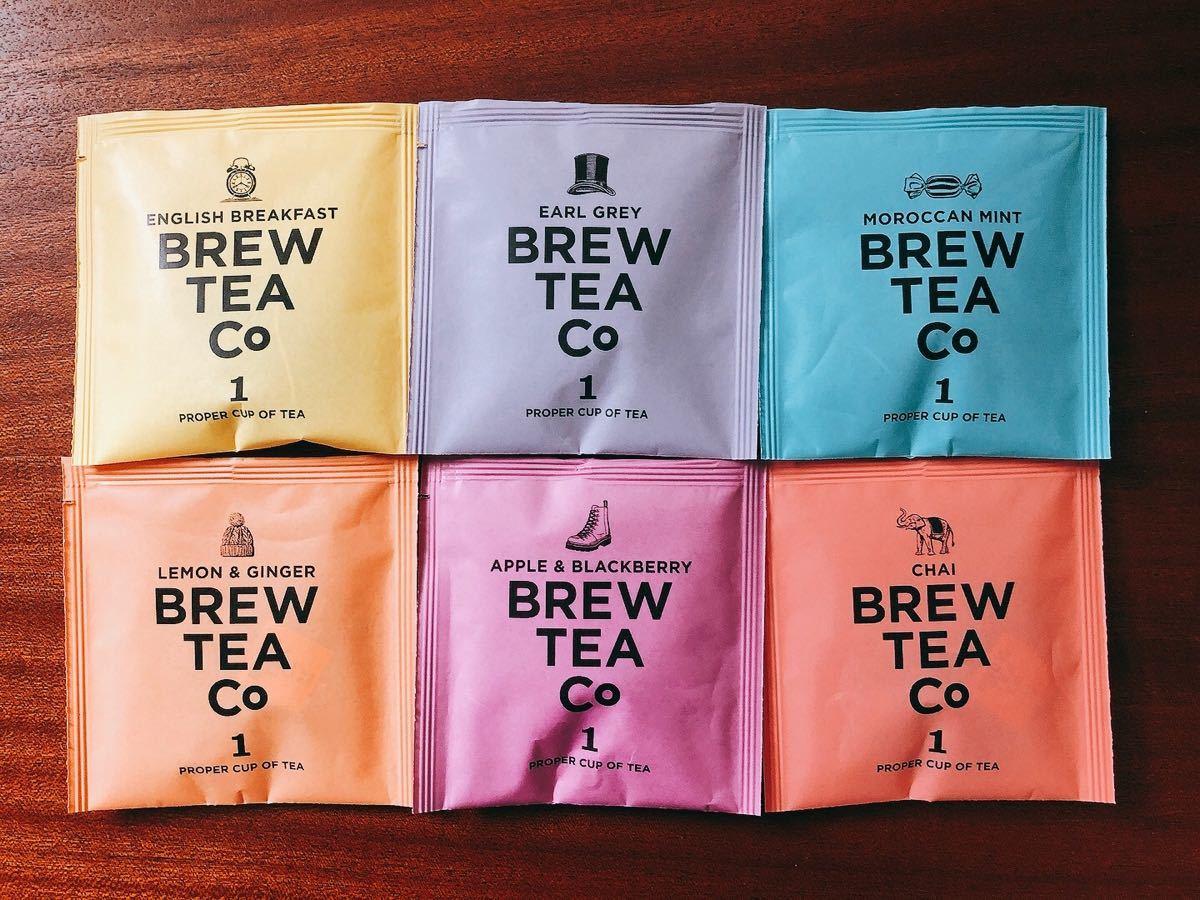 【新品未開封】ブリューティーカンパニー 紅茶 ティーバッグ 6種類1個ずつ6個 お試しセット
