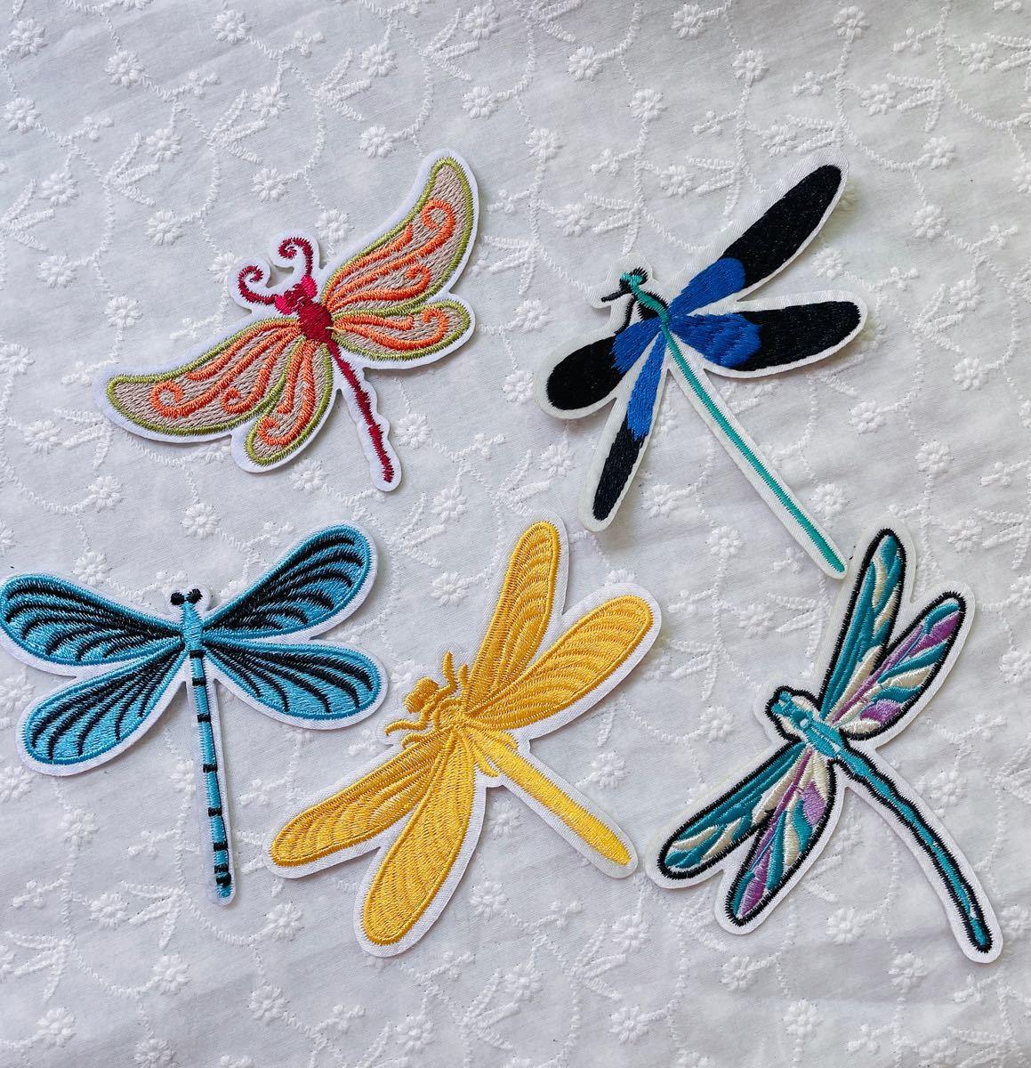 刺繍 アイロンワッペン どんぼワッペン 5枚セット