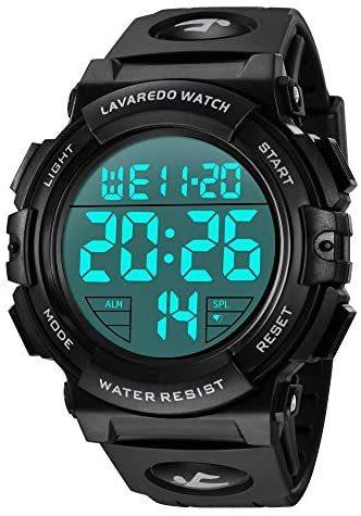 腕時計 メンズ デジタル スポーツ 50メートル防水 おしゃれ 多機能 LED表示 アウトドア 腕時計(ブラック)_画像1