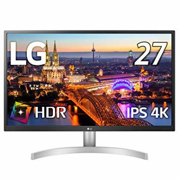 シルバー 【Amazon.co.jp 限定】LG ゲーミング モニター ディスプレイ 27UL500-W 27インチ/4K/HD_画像1