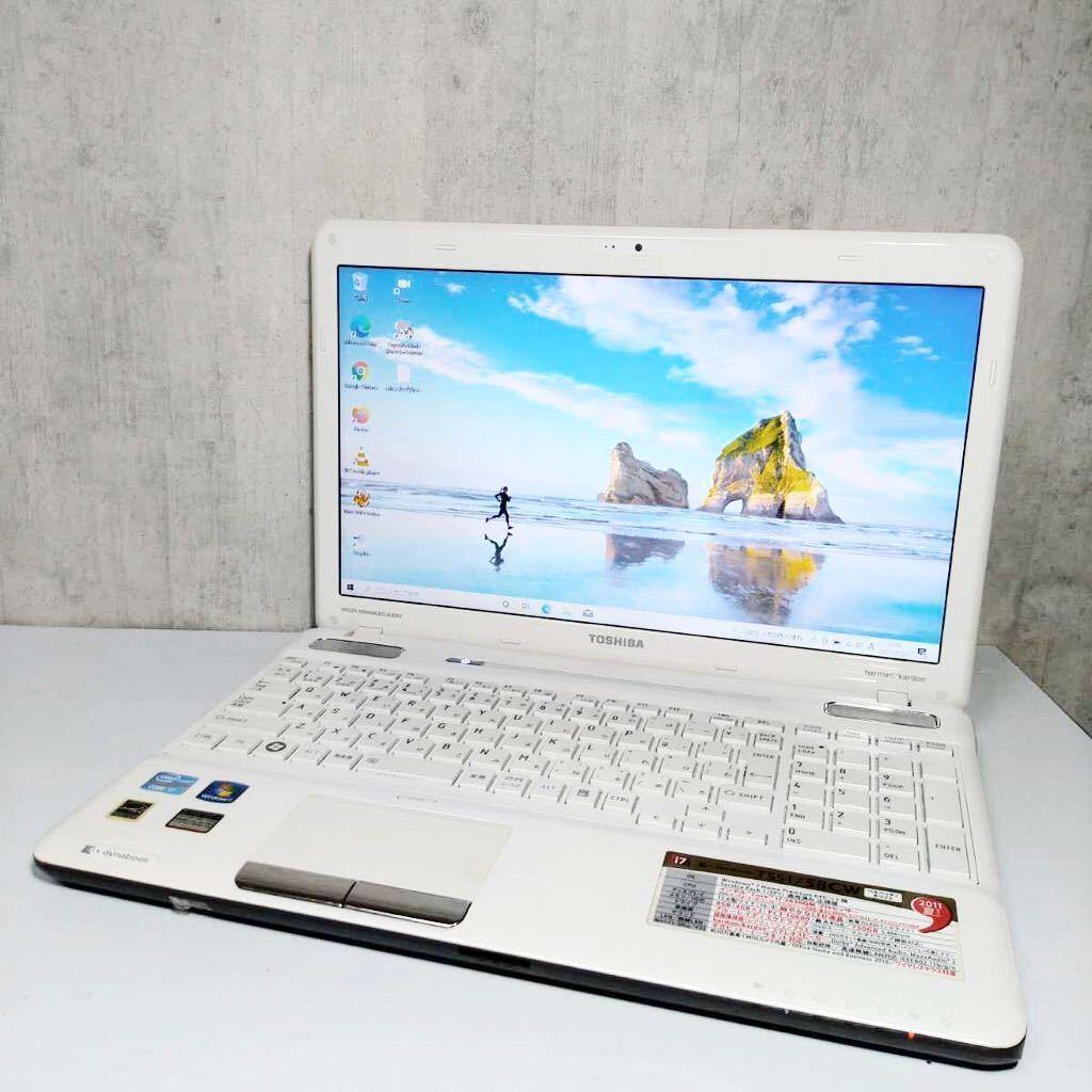 A-36【爆速+新品SSD512GB/i7-2630QM/メモリ8GB】東芝 最新Windows10/Webカメラ/ブルーレイ/office2019home&business/ワイヤレスマウス付き