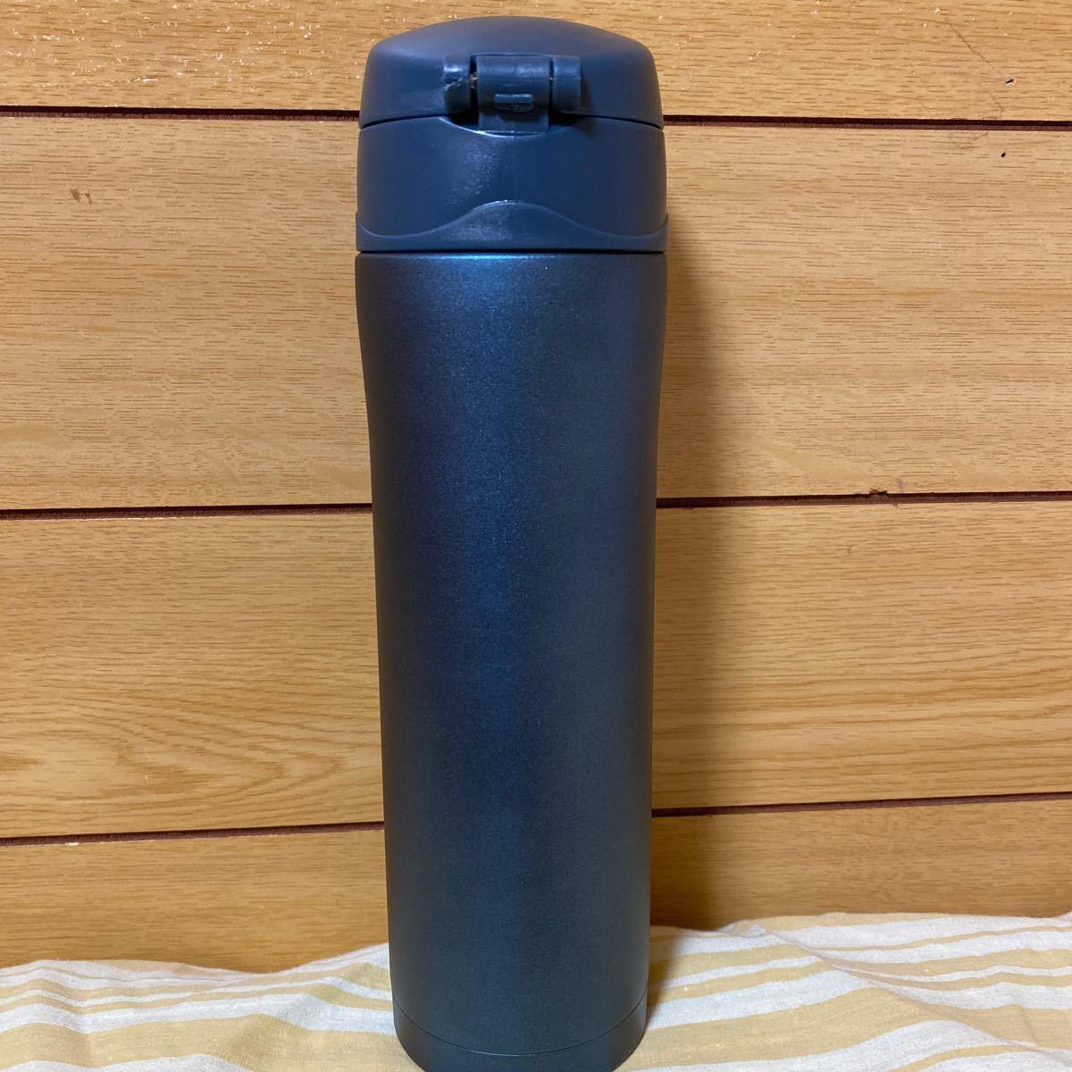 【ワンプッシュ】真空ステンレスボトル450ml 携帯用魔法瓶   新品、未使用 ケータイ 水筒