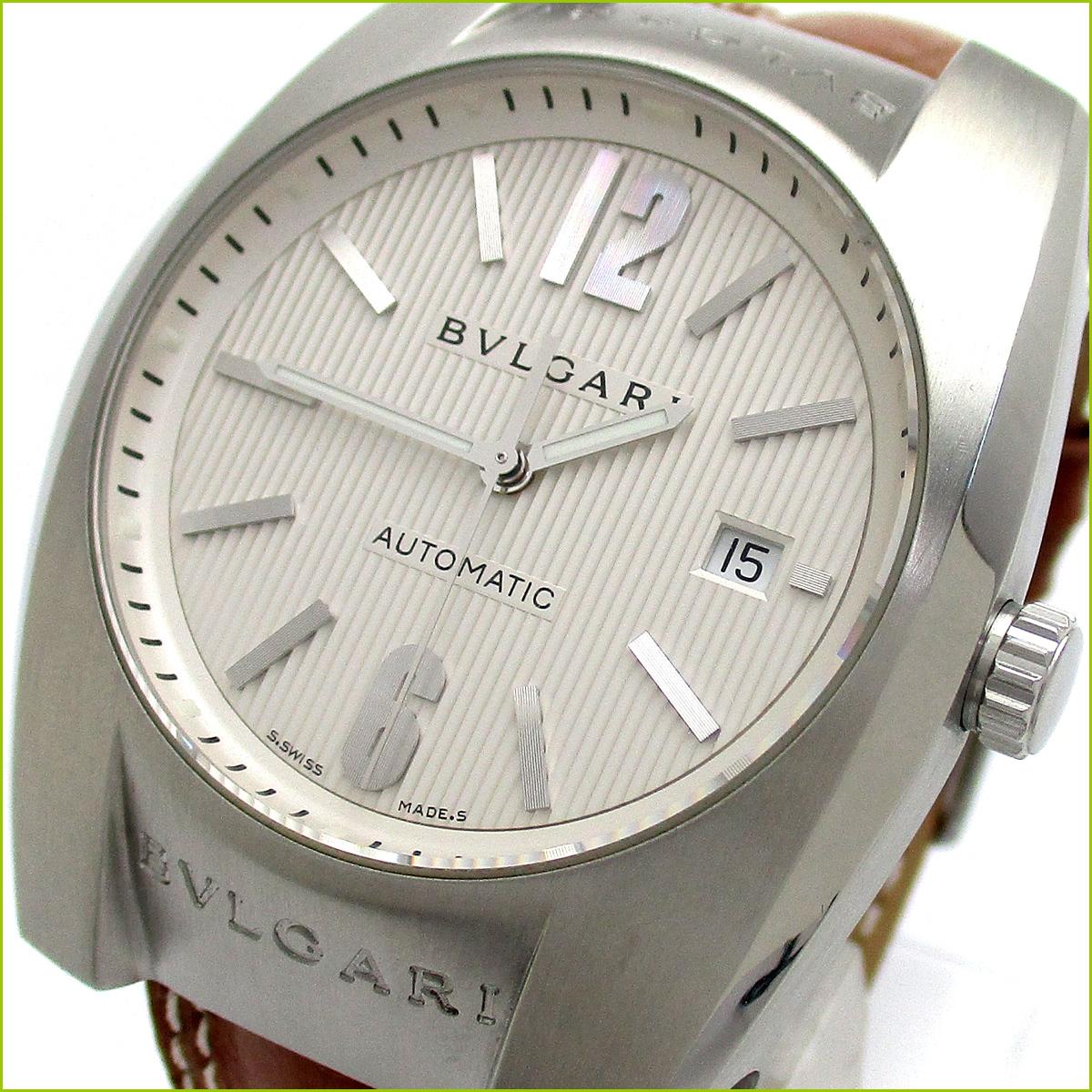 1円 ブルガリ エルゴン オート メンズ 白文字盤 EG40S 時計 BVLGARI 自動巻き 腕時計 EG4