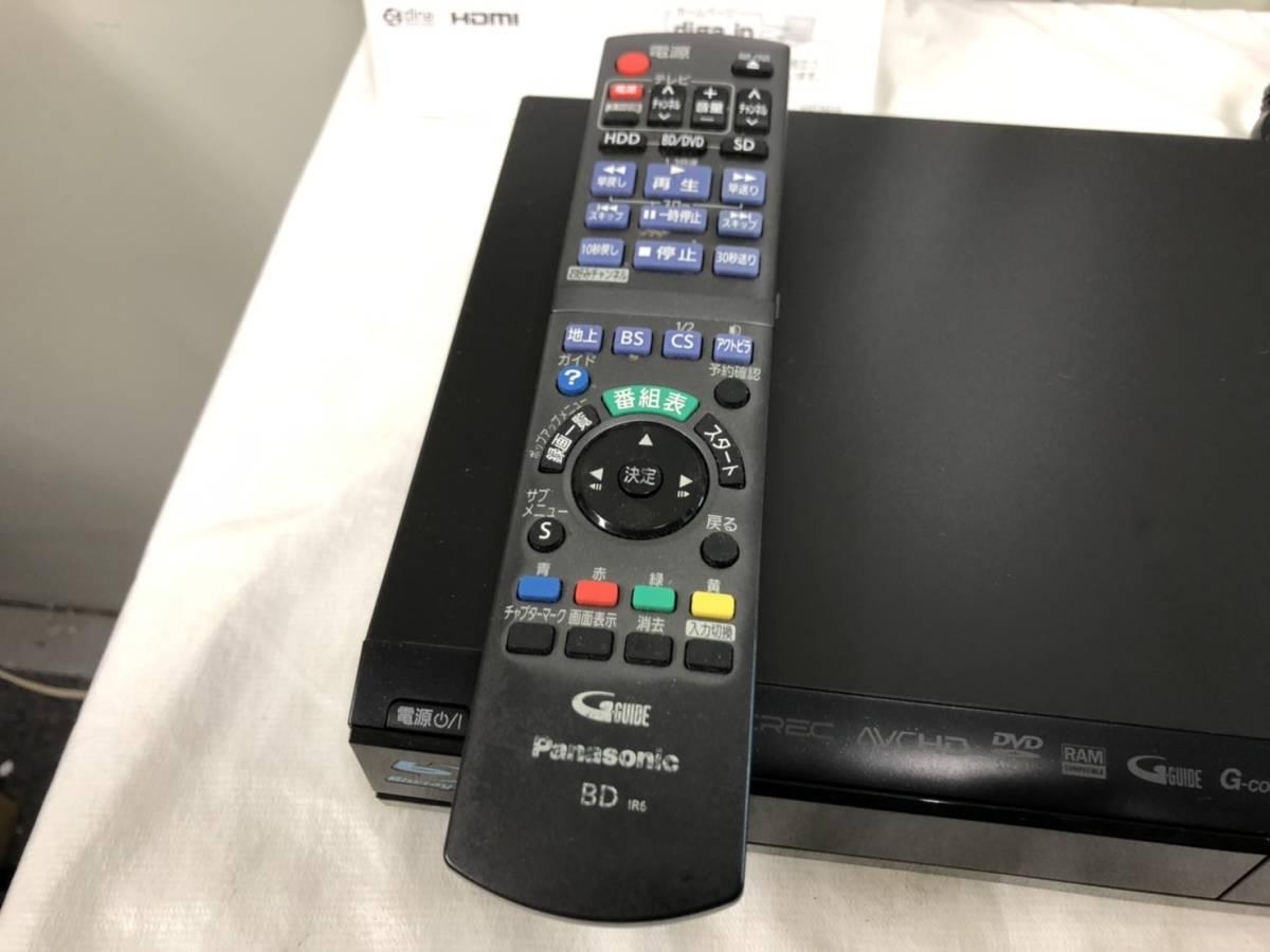 (393)2011年製 Panasonic パナソニック ブルーレイ・ディスクレコーダー DMR-BR585 B-CASカード リモコン 取説付き_画像2