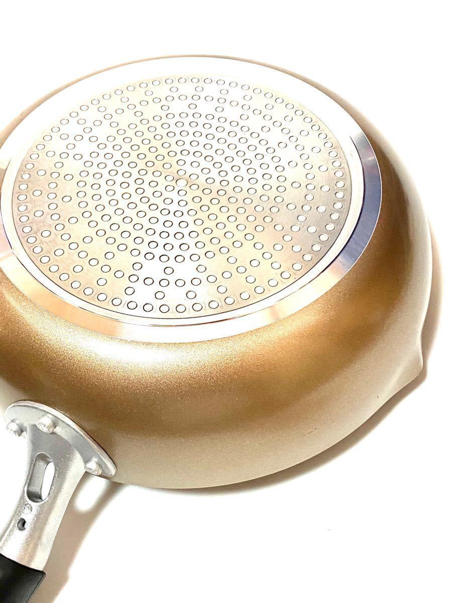 ストリックスデザイン 2層フッ素樹脂塗膜加工+内面二層コーティングIH対応 超軽量 深型両口フライパン(いため鍋) 24cm 新品