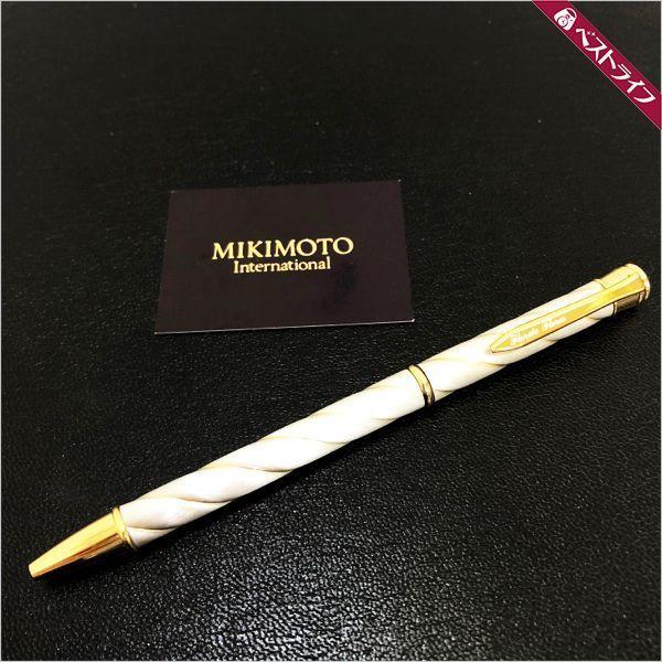 MIKIMOTO ミキモト パールデザイン ボールペン 箱 インク有 現状品【006】