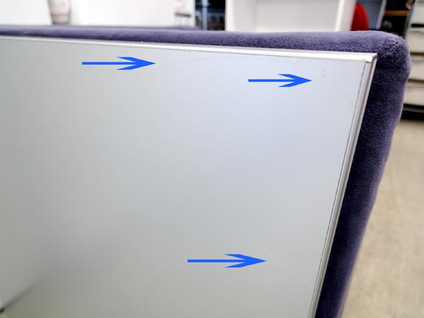 ②■Cassina カッシーナ ixc エアフレームソファ 1P 1人掛け コーナー 片肘 右肘 ラウンジ チェア 椅子 イス 札幌 中央区_画像では写りにくい薄キズです