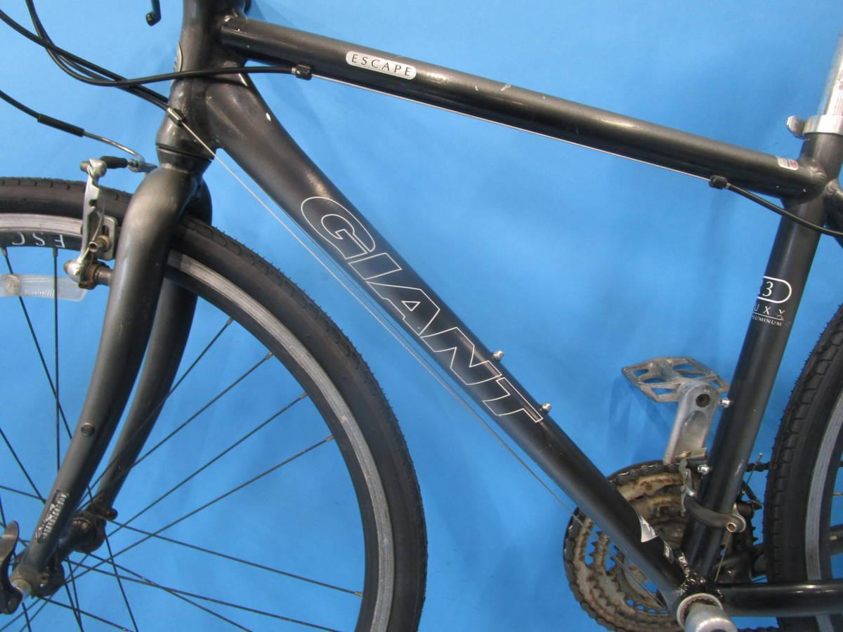 ☆大阪西淀☆ GIANT ESCAPE R3 前後タイヤ新品 アルミ クロスバイク XSサイズ 700C 3×8 ジャイアント エスケープ ALTUS 中古 自転車 JL93_画像5