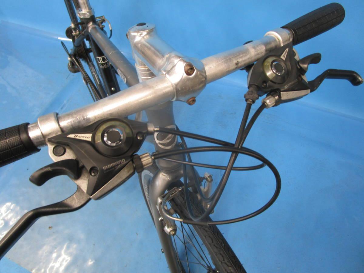 ☆大阪西淀☆ GIANT ESCAPE R3 前後タイヤ新品 アルミ クロスバイク XSサイズ 700C 3×8 ジャイアント エスケープ ALTUS 中古 自転車 JL93_画像3