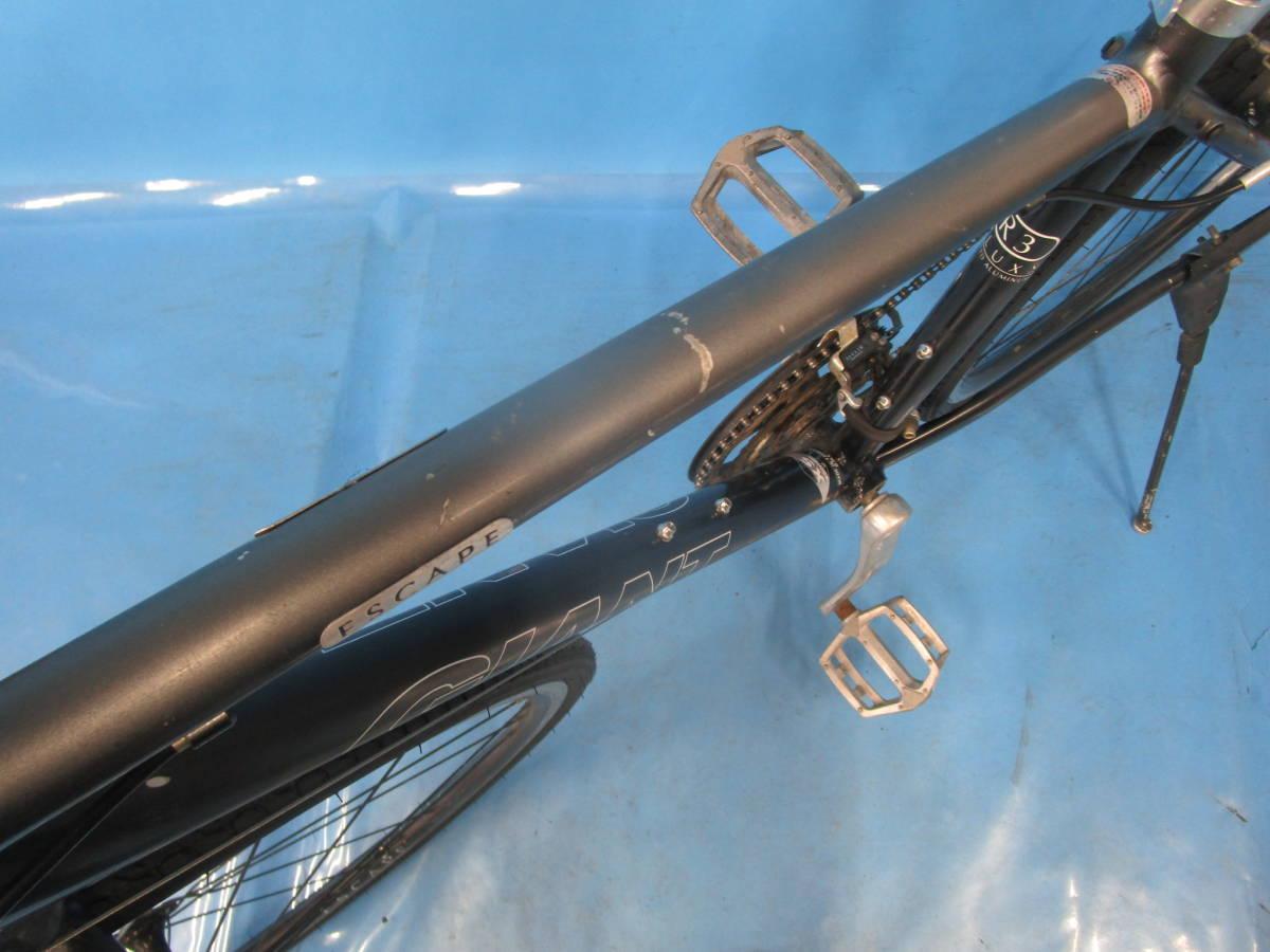 ☆大阪西淀☆ GIANT ESCAPE R3 前後タイヤ新品 アルミ クロスバイク XSサイズ 700C 3×8 ジャイアント エスケープ ALTUS 中古 自転車 JL93_画像6