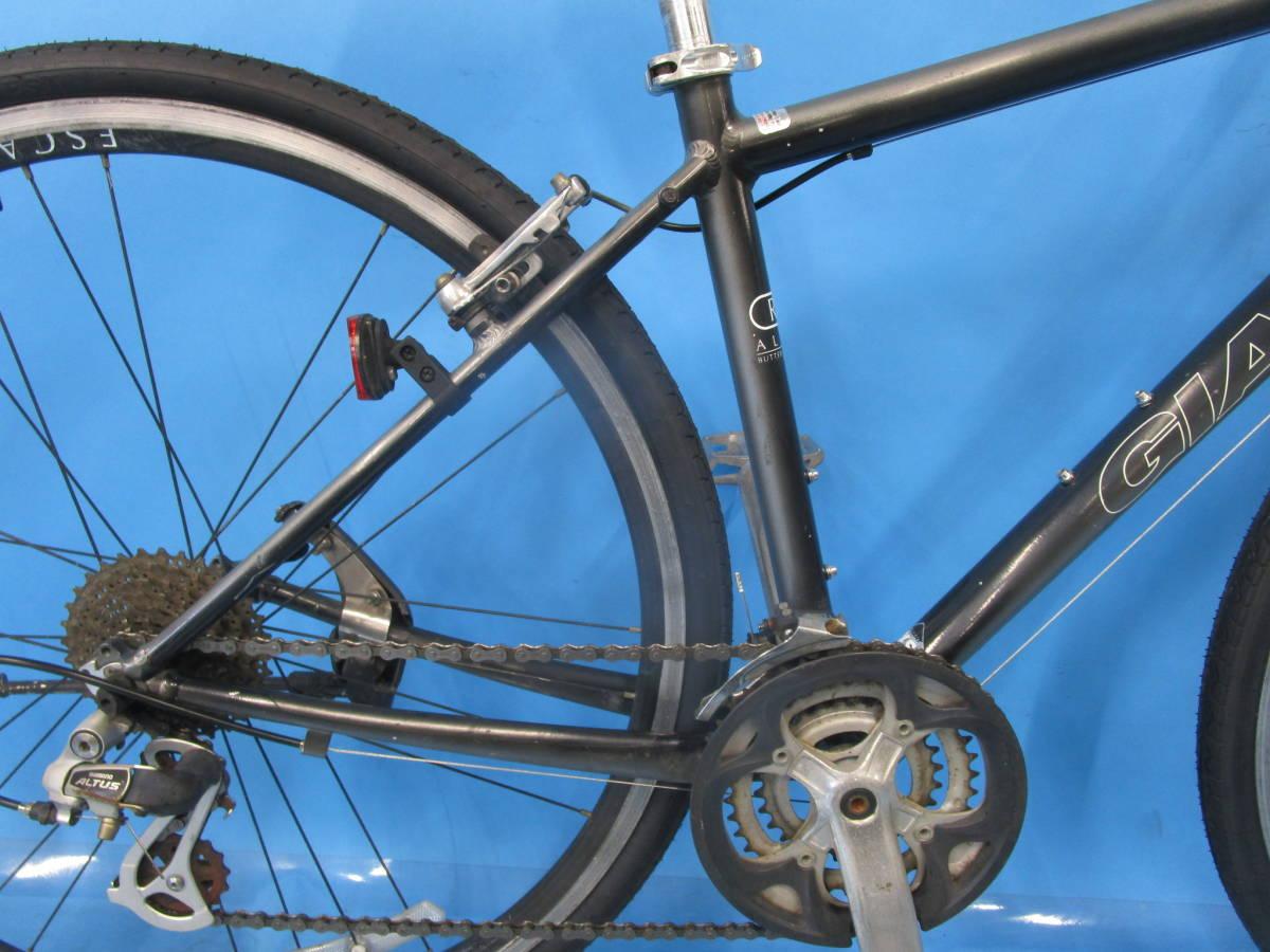 ☆大阪西淀☆ GIANT ESCAPE R3 前後タイヤ新品 アルミ クロスバイク XSサイズ 700C 3×8 ジャイアント エスケープ ALTUS 中古 自転車 JL93_画像8