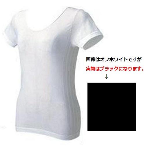 ★アイスタッチ、半袖インナー女性用30209ブラック、 M寸_画像1