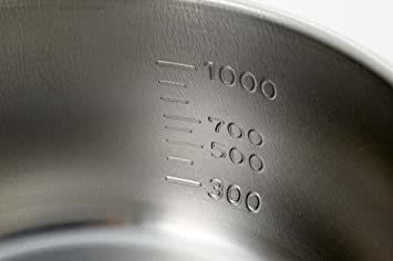 パール金属 日本製 ミルクパン 14cm つぼ型 目盛付 IH対応 ステンレス デイズキッチン HB-1049 & L_画像4