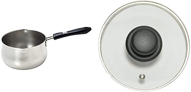 パール金属 日本製 ミルクパン 14cm つぼ型 目盛付 IH対応 ステンレス デイズキッチン HB-1049 & L_画像1