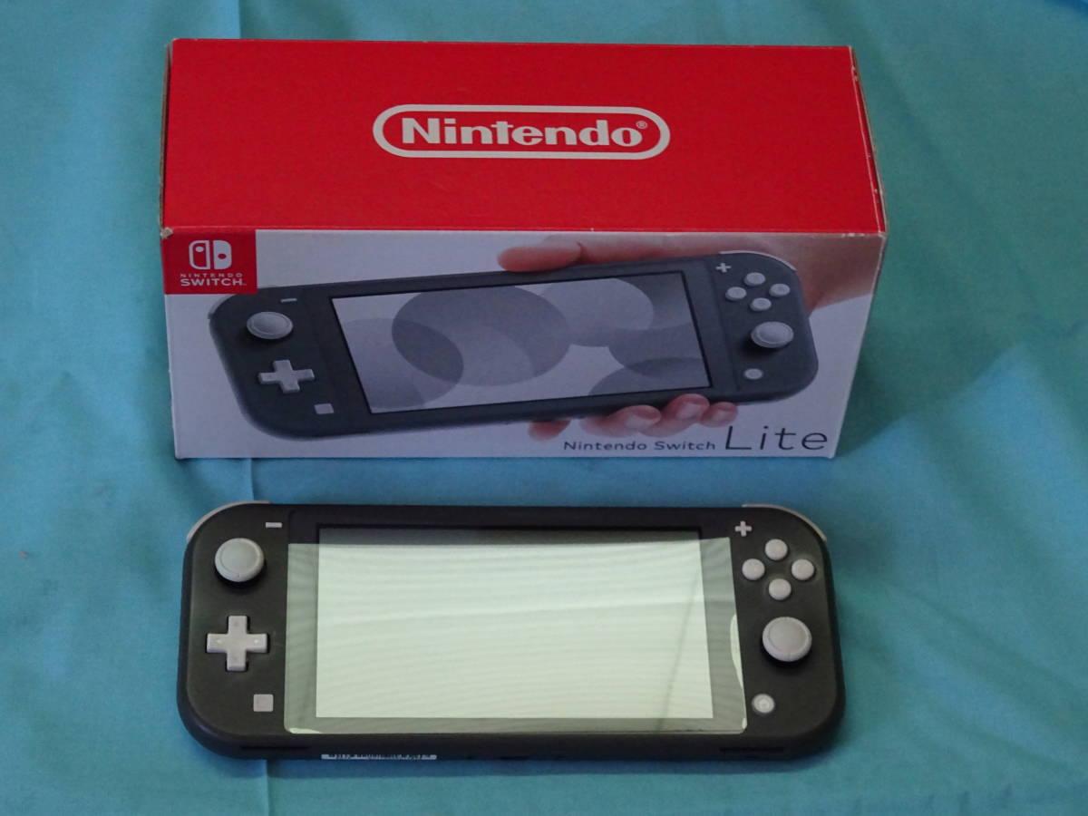 Nintendo Switch Lite ニンテンドースイッチ ライト グレー 本体+箱のみ_画像1
