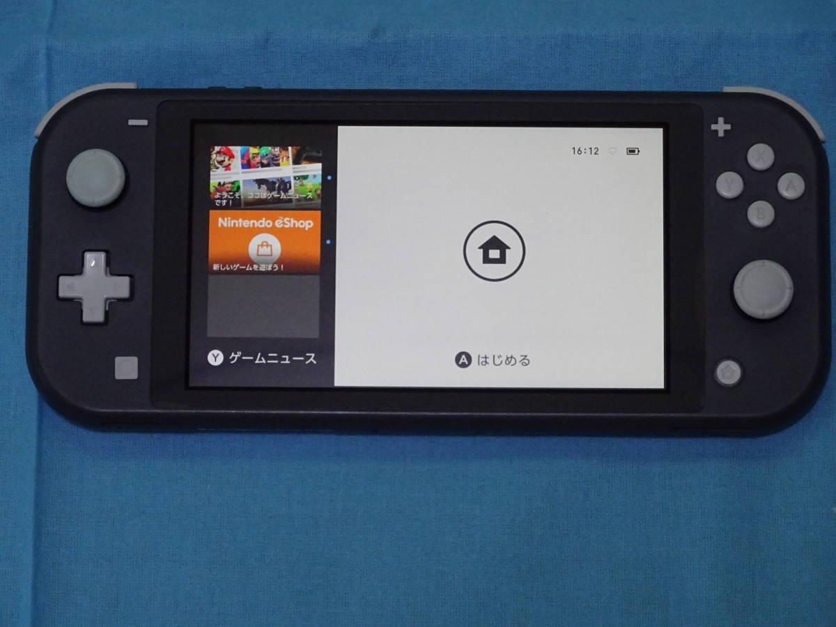 Nintendo Switch Lite ニンテンドースイッチ ライト グレー 本体+箱のみ_画像8