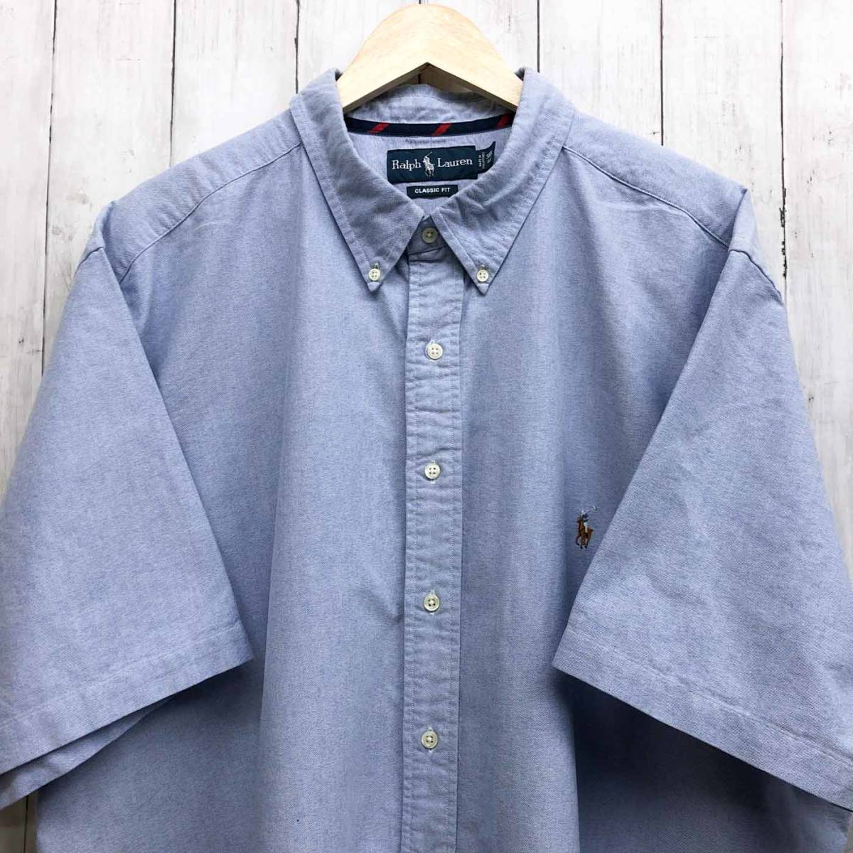 ラルフローレン POLO Ralph Lauren Polo 半袖シャツ メンズ ワンポイント 3XLサイズ 7-167_画像1