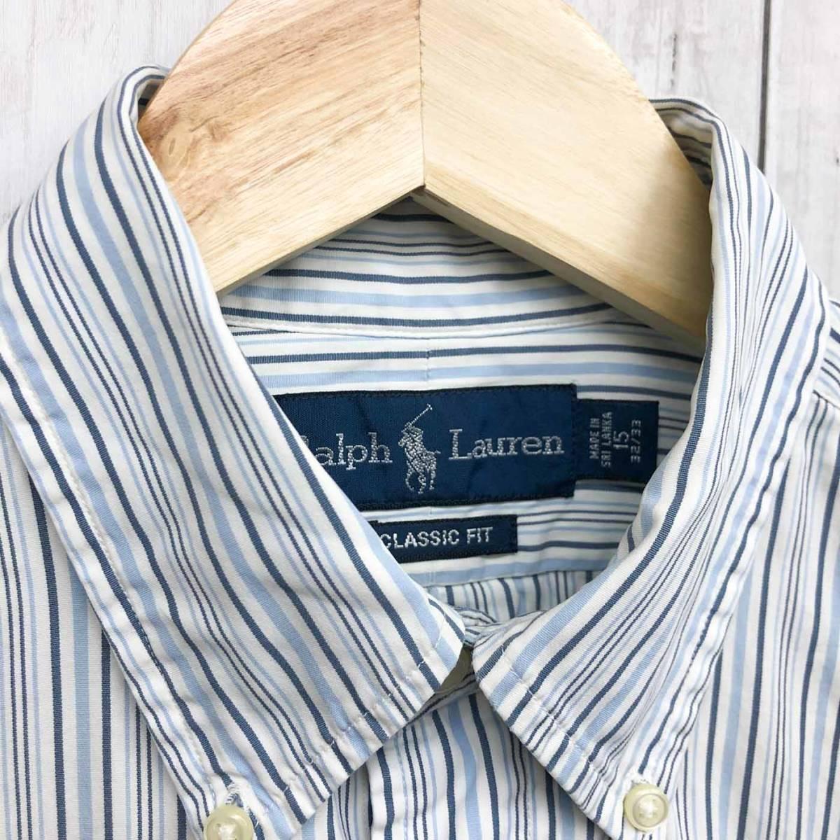 ラルフローレン POLO Ralph Lauren Polo 半袖シャツ メンズ ワンポイント サイズ15(S~Mサイズ相当) 7-177_画像5
