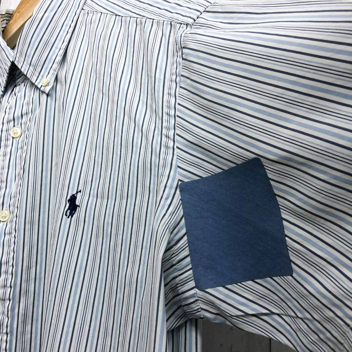 ラルフローレン POLO Ralph Lauren Polo 半袖シャツ メンズ ワンポイント サイズ15(S~Mサイズ相当) 7-177_画像7