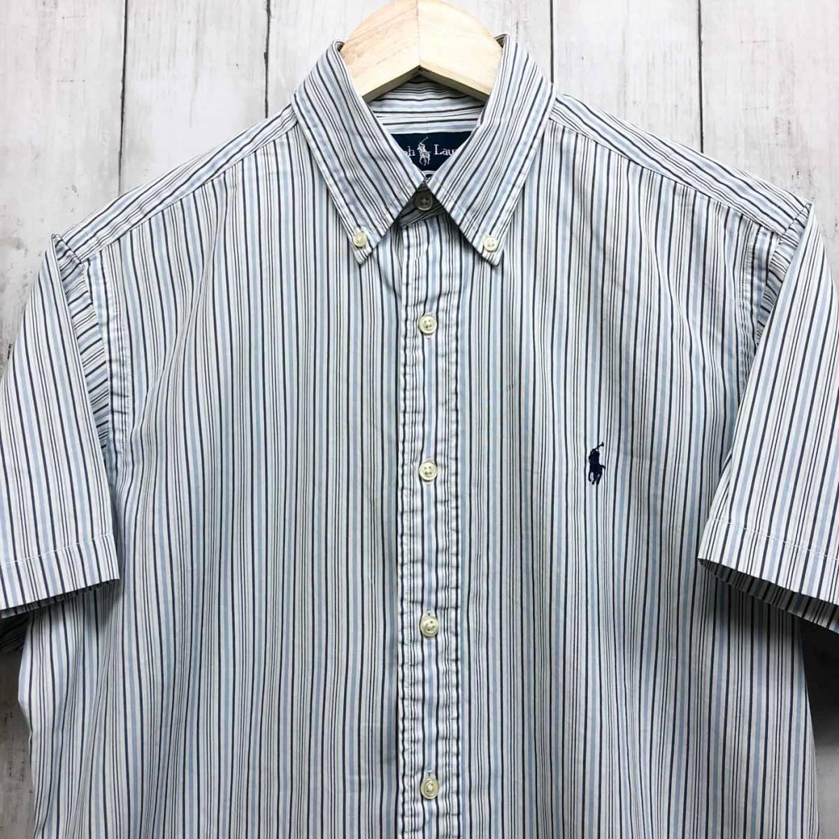ラルフローレン POLO Ralph Lauren Polo 半袖シャツ メンズ ワンポイント サイズ15(S~Mサイズ相当) 7-177_画像1