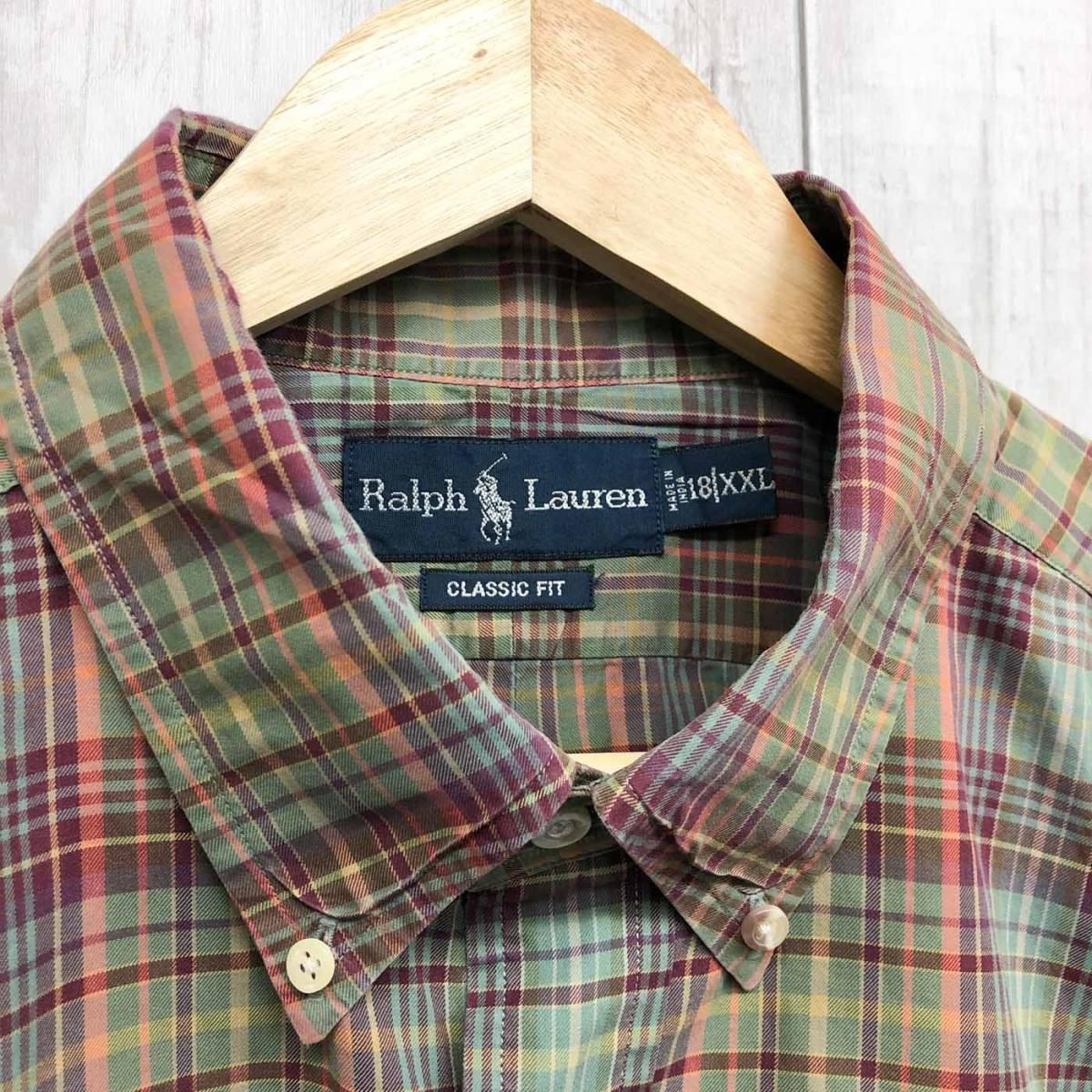 ラルフローレン POLO Ralph Lauren Polo 半袖シャツ メンズ ワンポイント XXLサイズ(2XLサイズ) 7-180_画像5